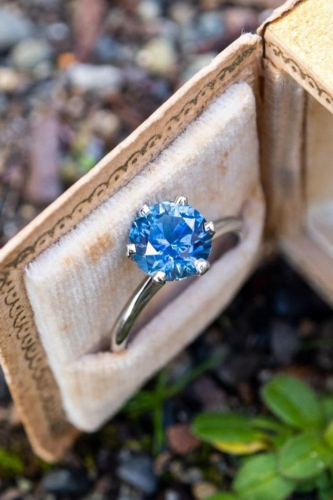sapphire engagement rings solitaire engagement rings simple engagement rings white gold engagement rings
