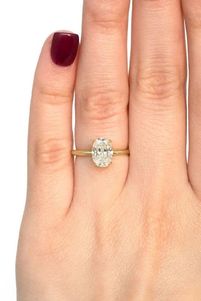solitaire engagement rings rose gold engagement rings simple engagement rings diamond engagement rings