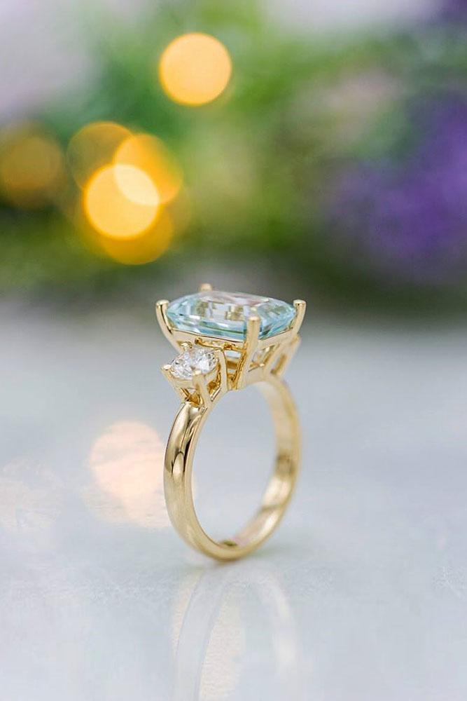 unique engagement rings aquamarine engagement rings rose gold engagement rings