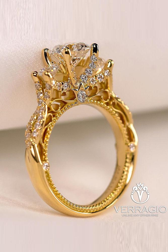 verragio engagement rings cathedral engagement rings yellow gold rings platinum rings