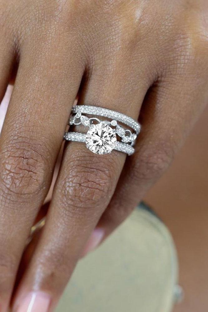white gold engagement rings round cut engagement rings diamond engagement rings