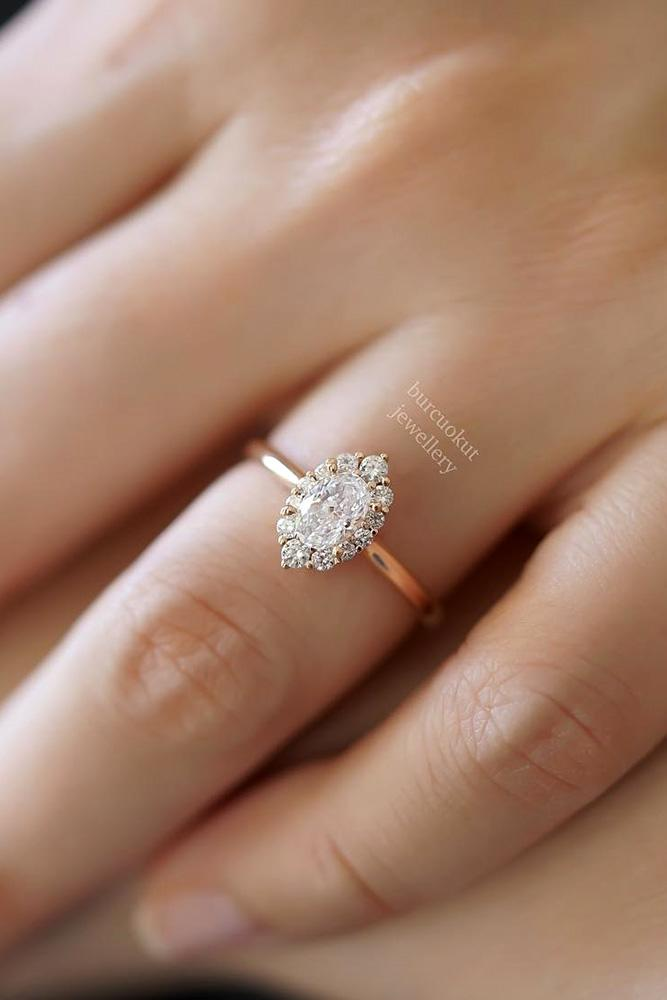 beautiful engagement rings rose gold engagement ring halo engagement ring diamond ring