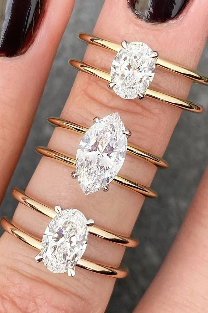 diamond engagement rings oval cut engagement rings rose gold engagement rings