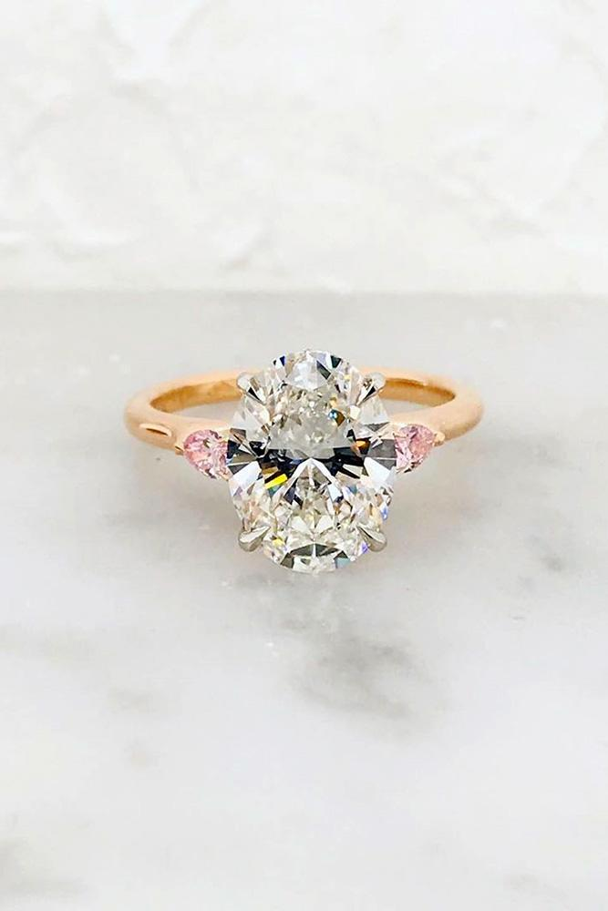 diamond engagement rings oval cut engagement rings rose gold engagement rings pink diamonds