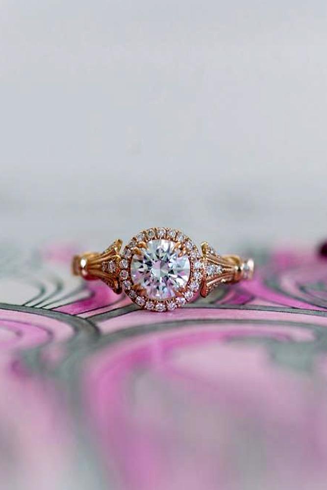 rose gold engagement rings kirk kara engagement rings round diamond engagement rings