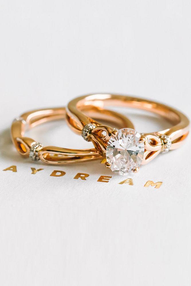 rose gold engagement rings kirk kara engagement rings wedding rings bridal sets unique wedding rings sets