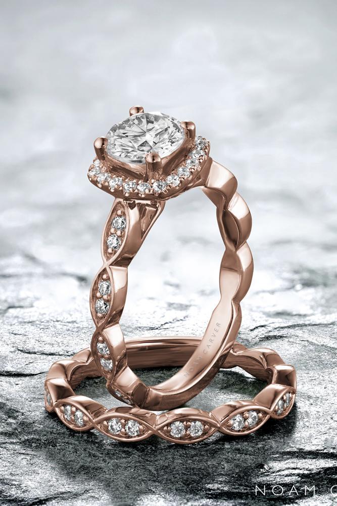 rose gold engagement rings unique engagement rings diamond engagement rings