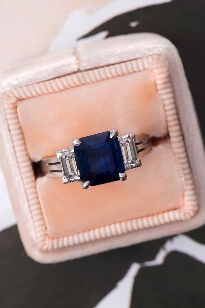 sapphire engagement rings three stone engagement rings princess cut rings white gold rings
