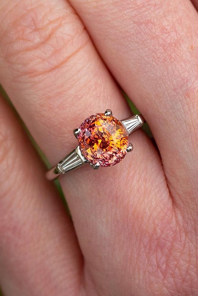 sapphire engagement rings yellow sapphire engagement rings unique engagement rings