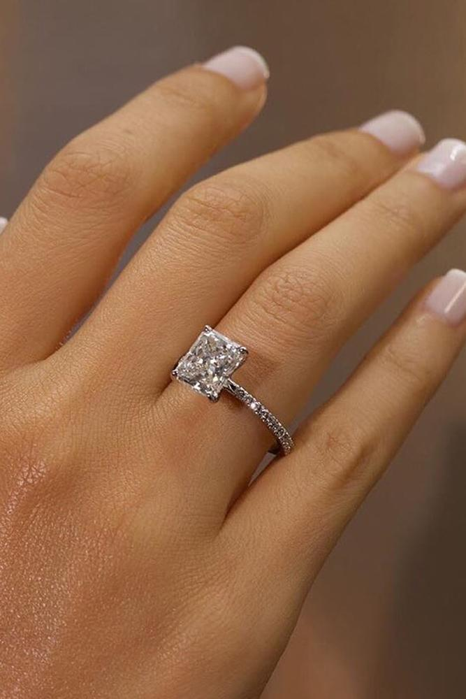 simple engagement rings cushion cut engagement rings white gold engagement rings solitaire rings