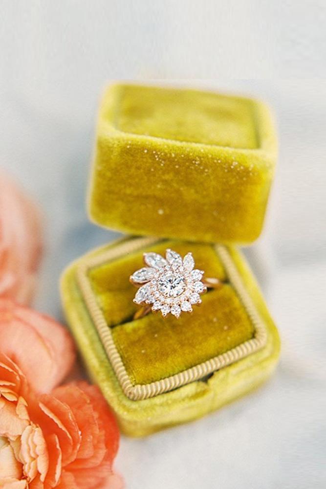 unique engagement rings round cut engagement rings rose gold engagement rings