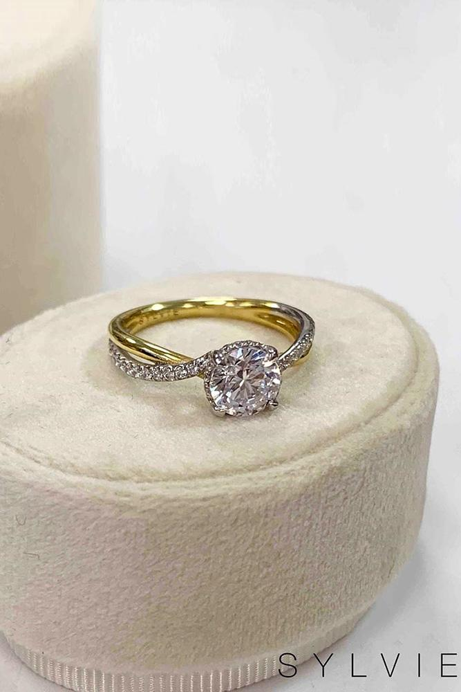 unique engagement rings yellow gold engagement rings beautiful engagement rings