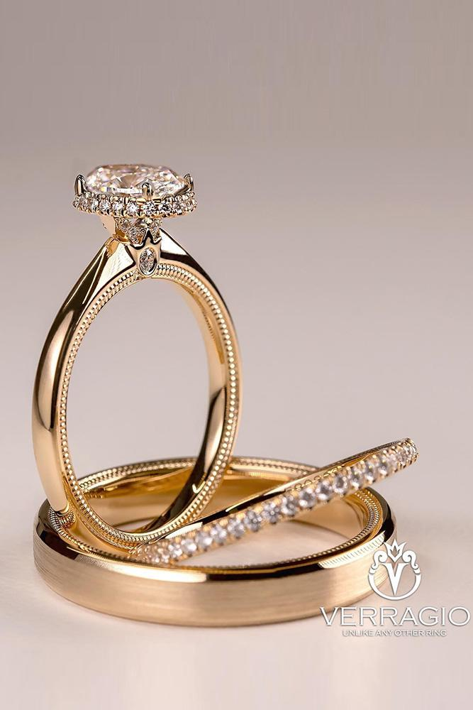unique wedding rings rose gold wedding rings bridal sets diamond engagement rings halo engagement rings