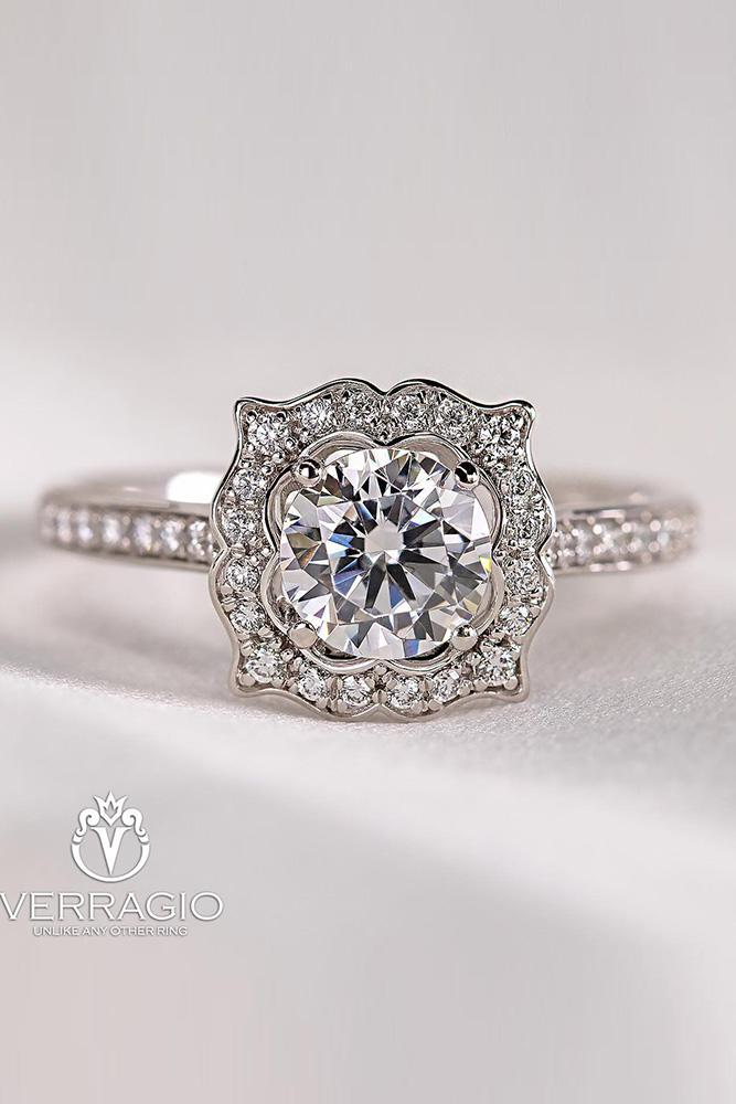 verragio engagement rings round cut ring white gold ring halo ring