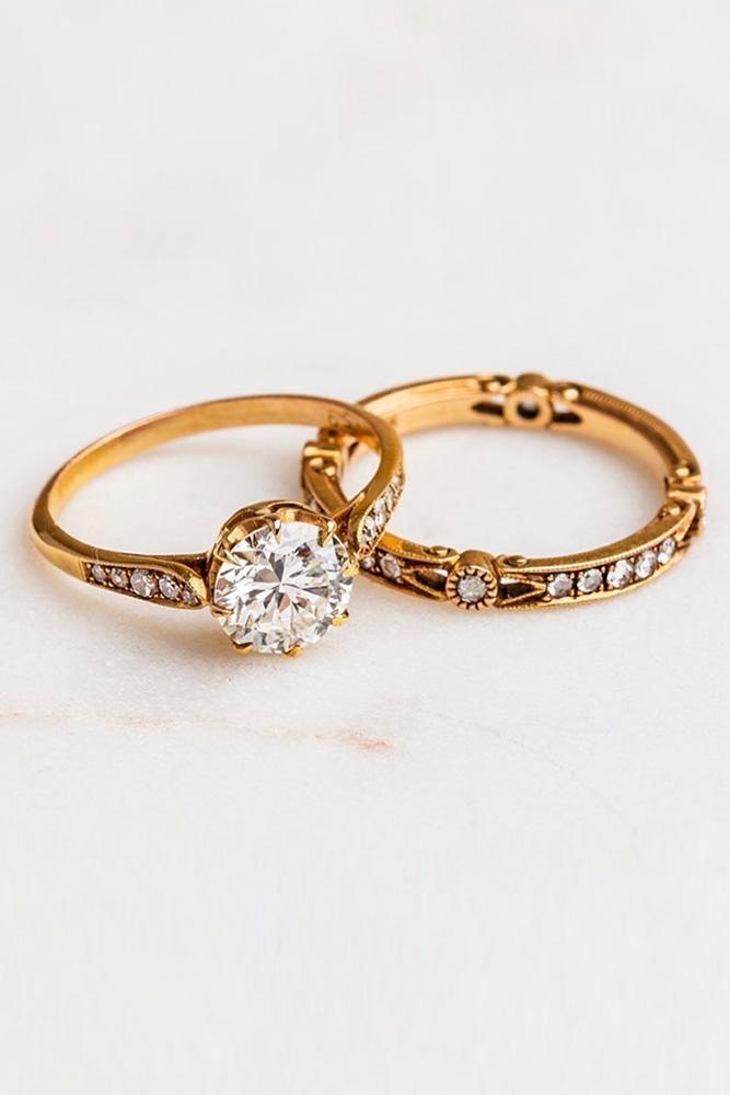 vintage engagement rings rose gold engagement rings unique engagement rings