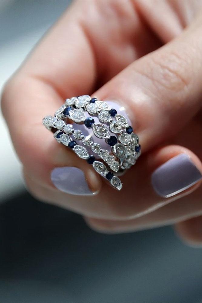wedding rings set stackable wedding rings white gold wedding rings wedding bands sapphire rings