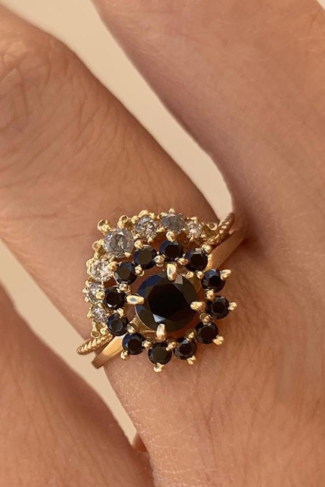 black diamond engagement rings unique wedding rings rose gold engagement rings