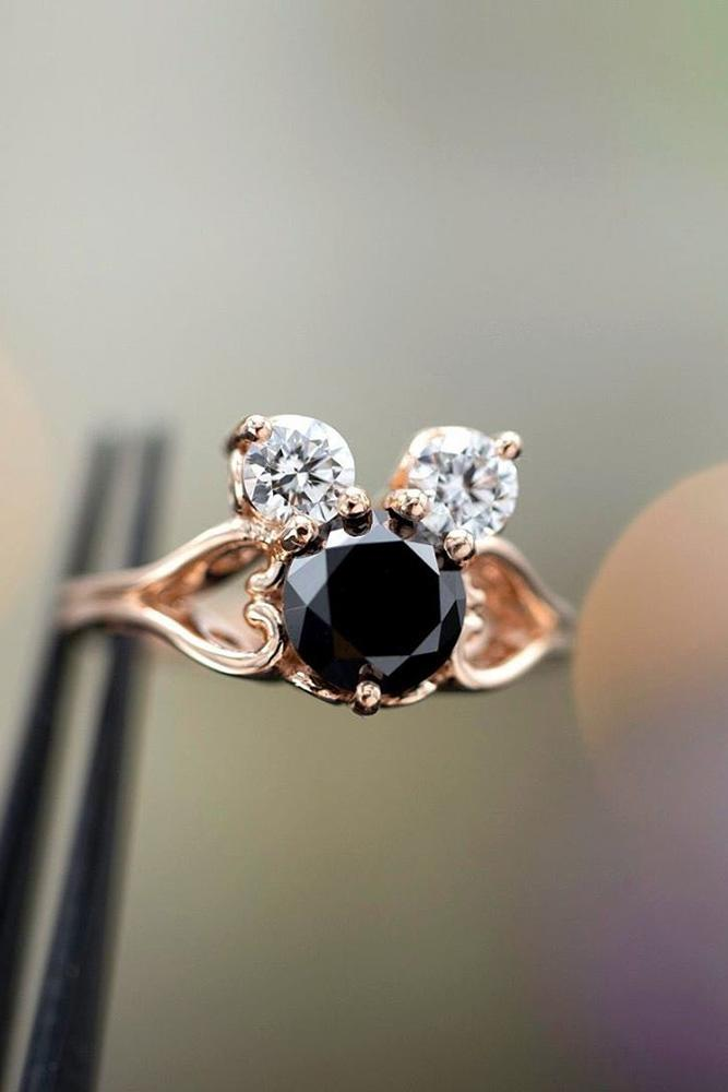 black diamond engagement rings wedding ring sets disney ring rose gold engagement rings