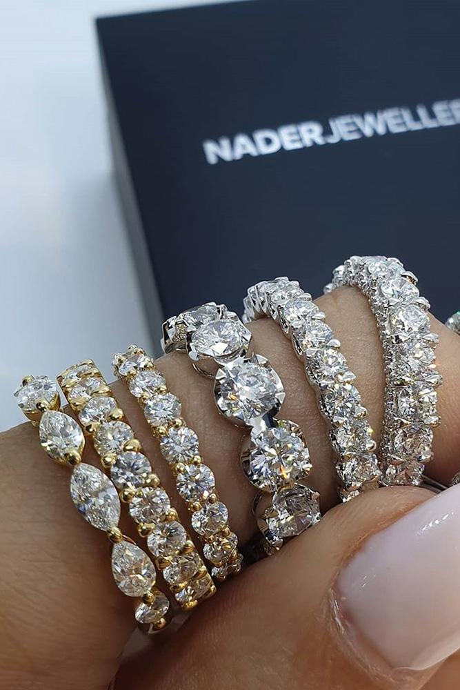 bridal sets diamond wedding rings rose gold wedding bands eternity wedding bands