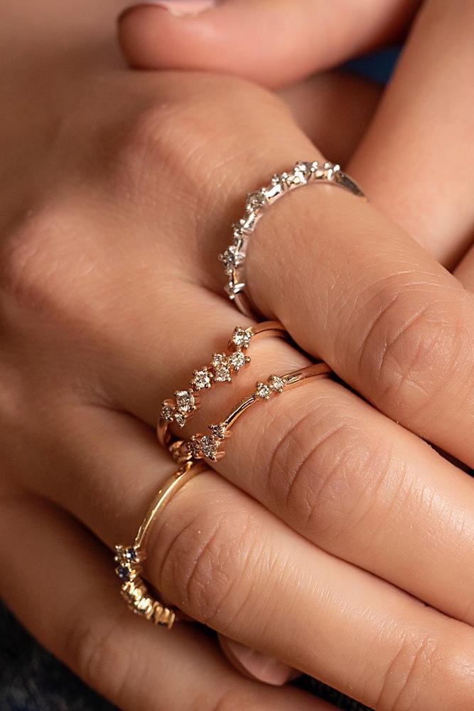 bridal sets unique wedding bands rose gold wedding-bands eternity wedding bands
