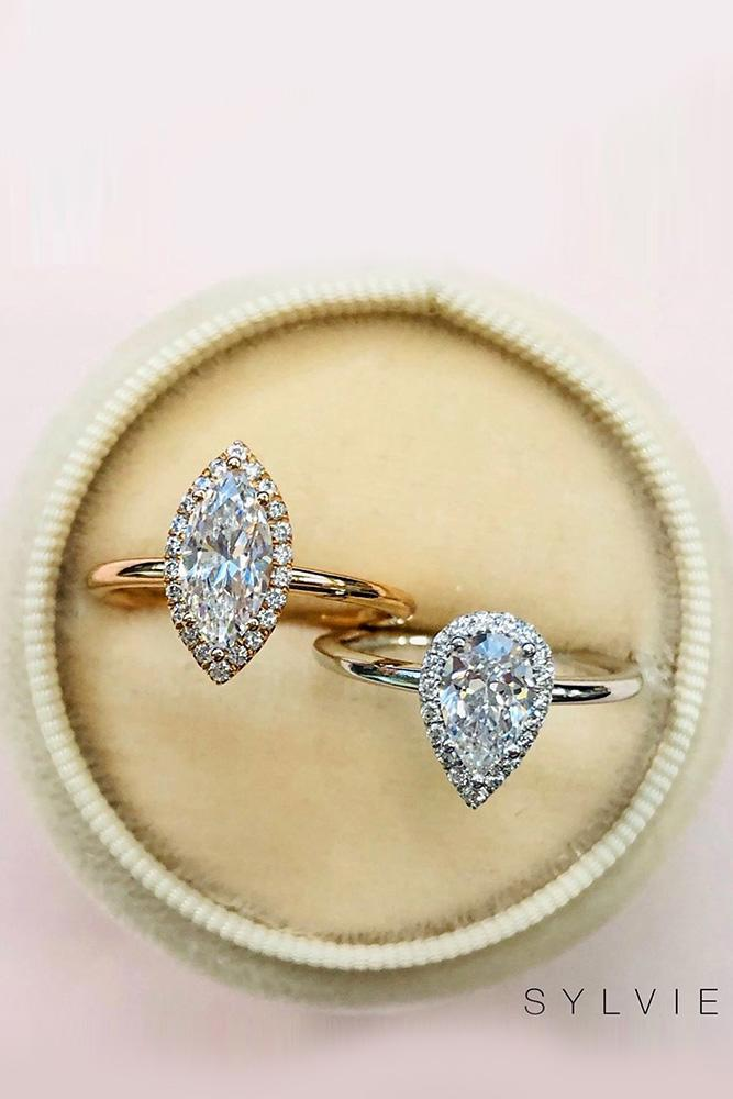 diamond engagement rings marquise cut engagement rings pear shaped engagement rings