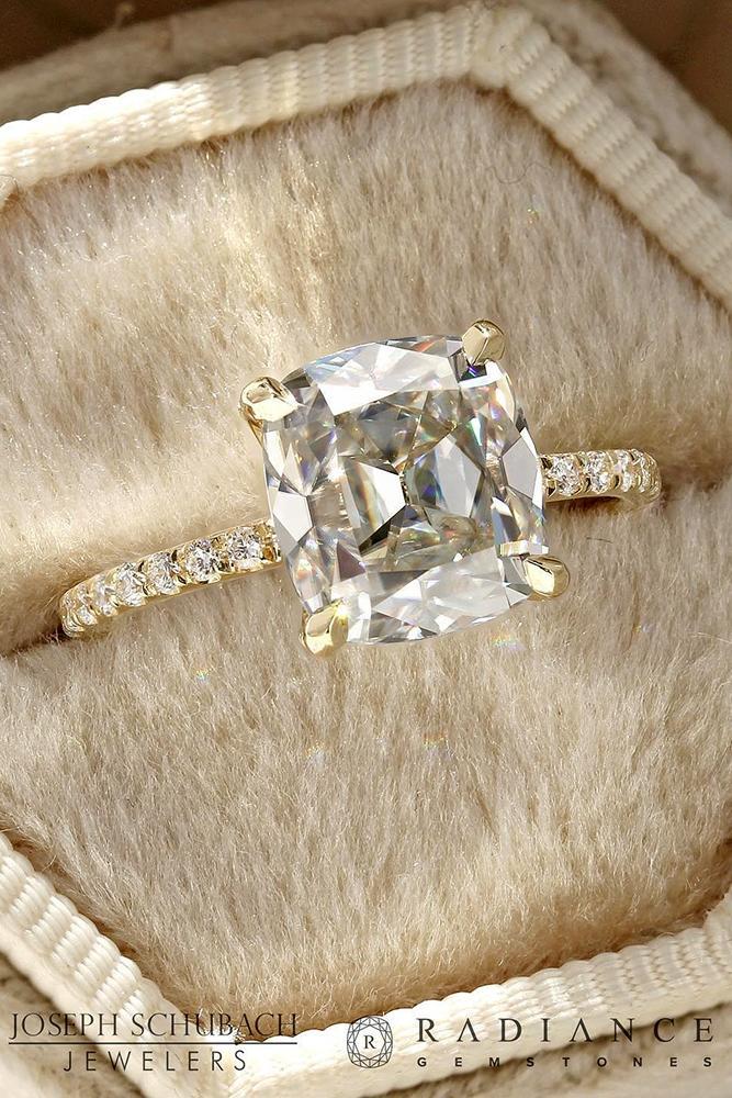 diamond engagement rings rose gold engagement rings cushion cut engagement rings