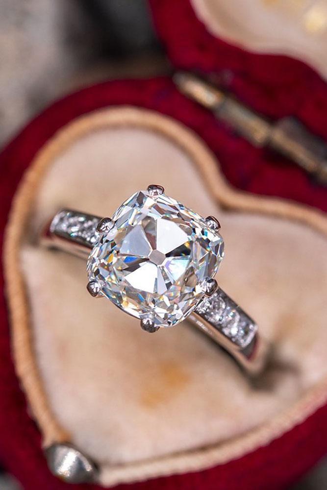 diamond engagement rings white gold engagement rings cushion cut engagement rings