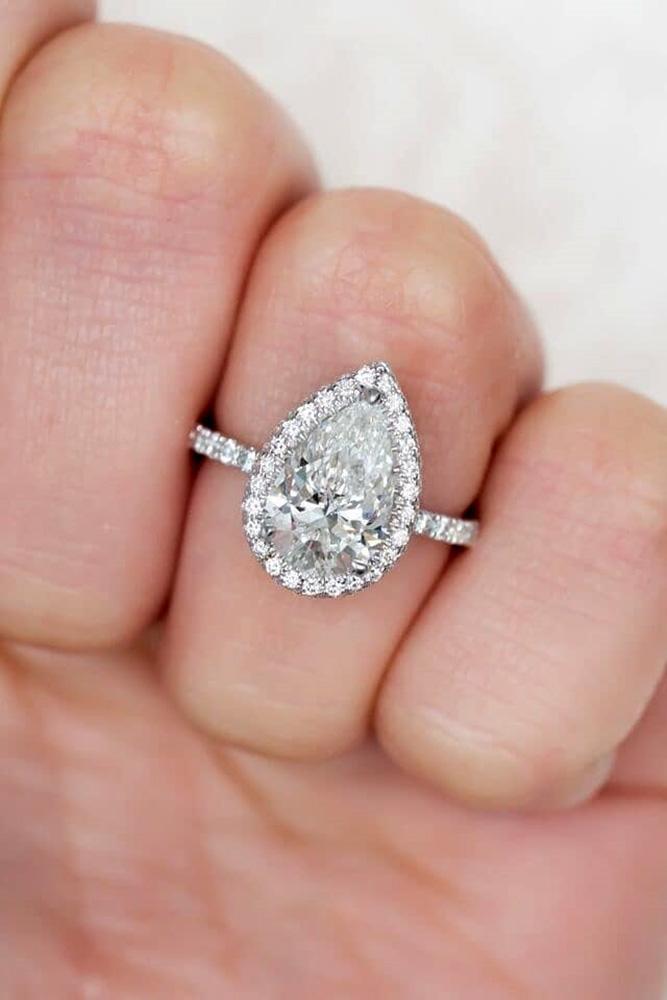 diamond engagement rings white gold engagement rings pear shaped engagement rings