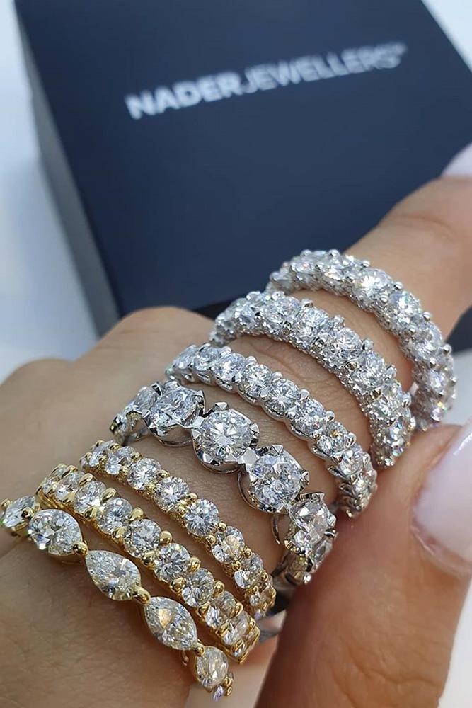 diamond engagement rings white gold wedding bands eternity wedding bands