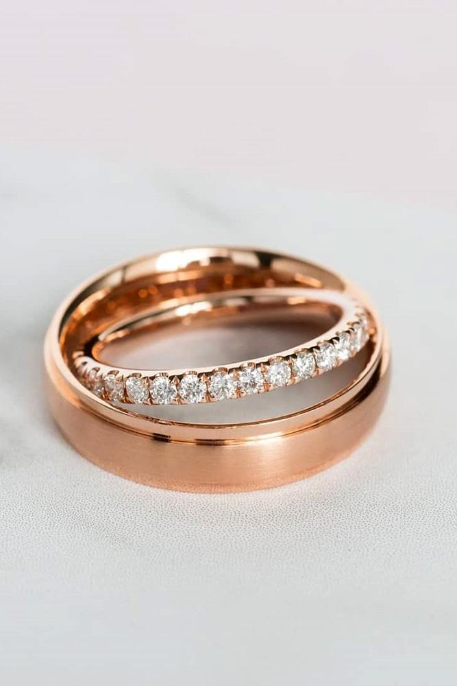matching wedding bands rose gold wedding rings unique wedding bands diamond ring