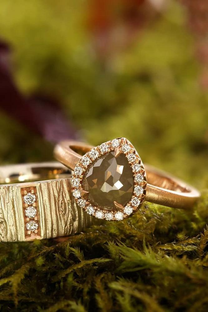 pear shaped engagement rings rose gold engagement rings halo engagement rings