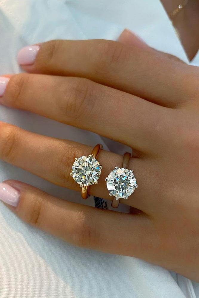 rose gold engagement rings diamond engagement rings