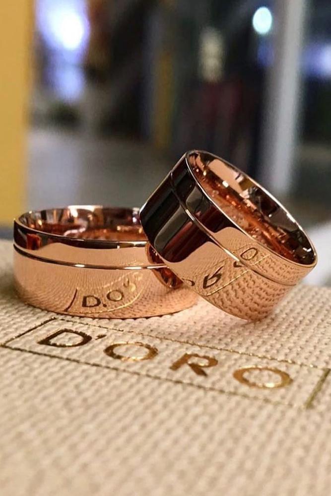 rose gold engagement rings diamond wedding bands bridal sets matching wedding bands
