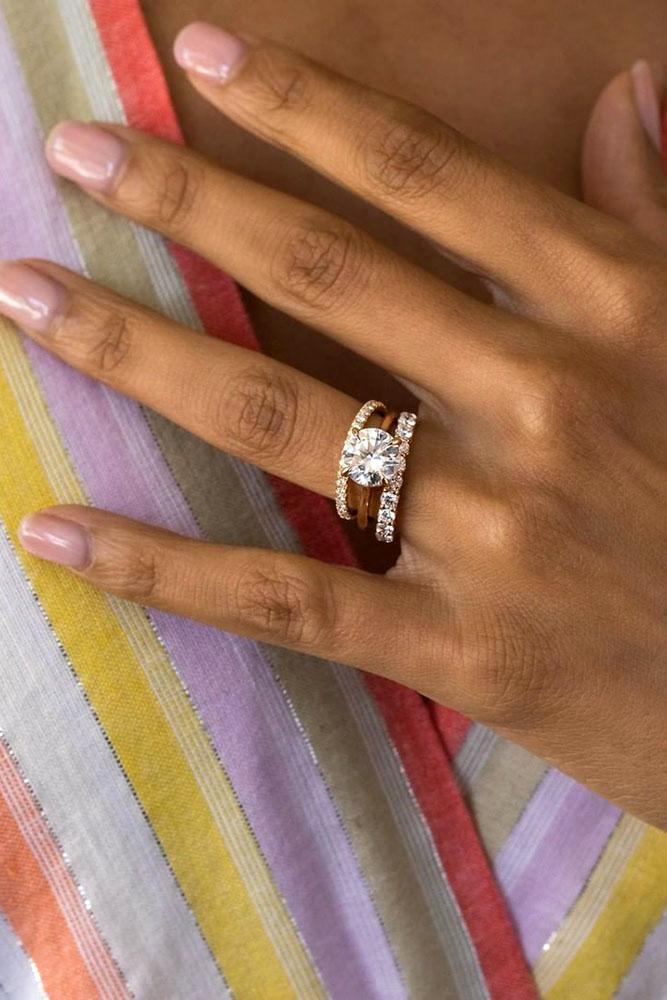 rose gold engagement rings wedding rings diamond engagement rings bridal sets