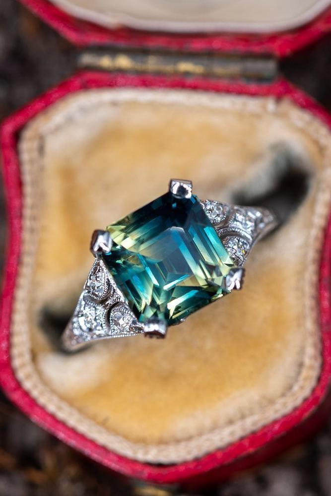 sapphire engagement rings green sapphire engagement rings unique engagement rings