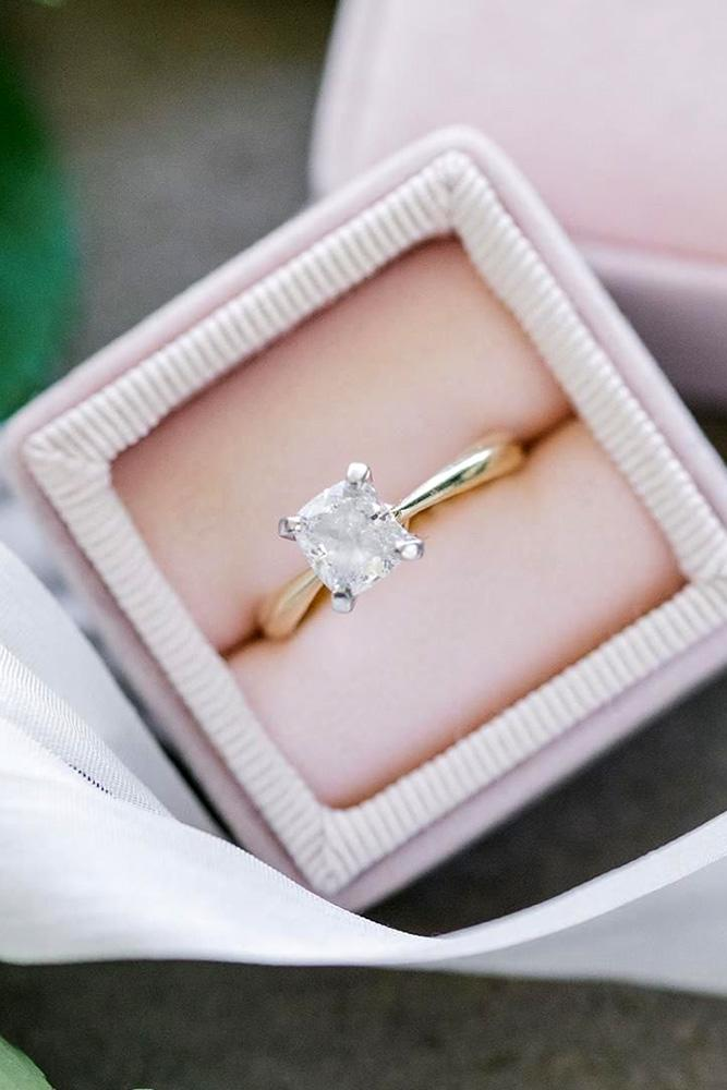 solitaire engagement rings cushion cut engagement rings simple engagement rings