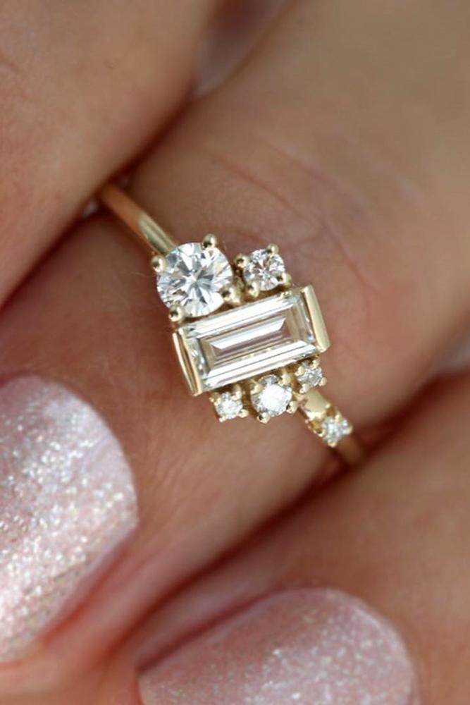 unique engagement rings rose gold engagement rings modern engagement rings
