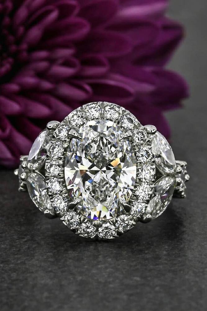 unique engagement rings white gold engagement rings floral engagement rings