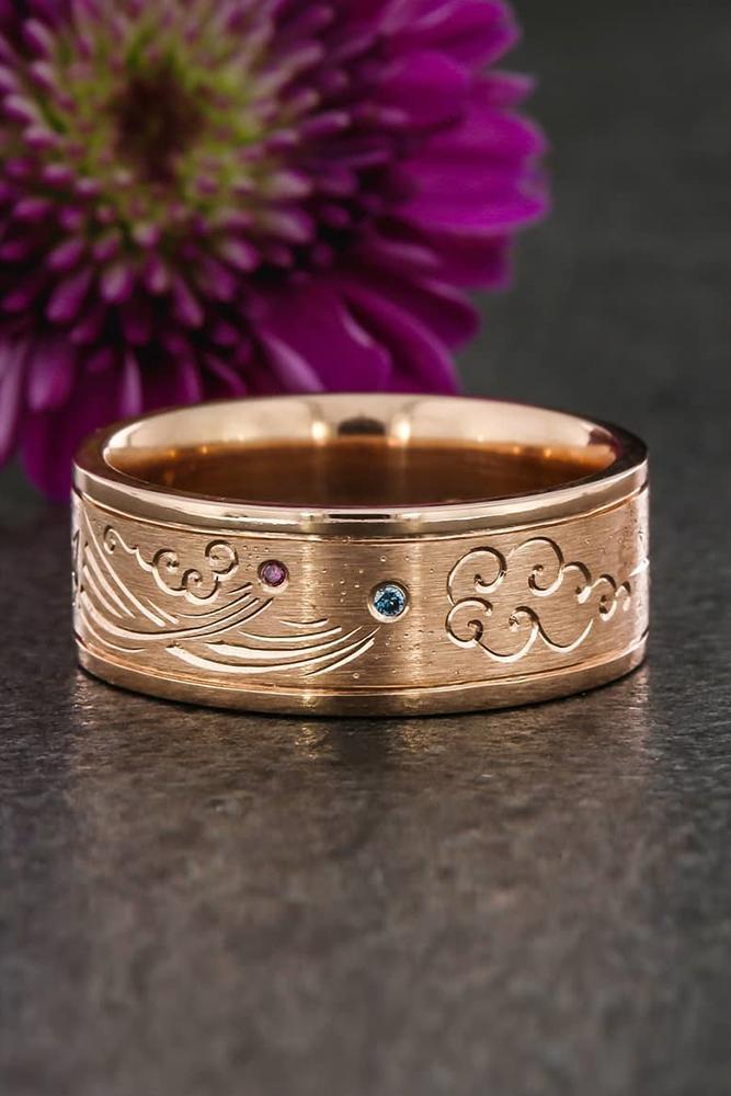 unique wedding rings unique wedding bands rose gold wedding bands