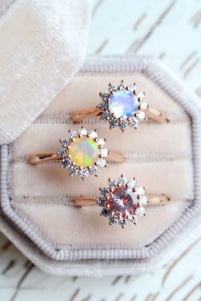 vintage engagement rings halo engagement rings gemstone engagement rings