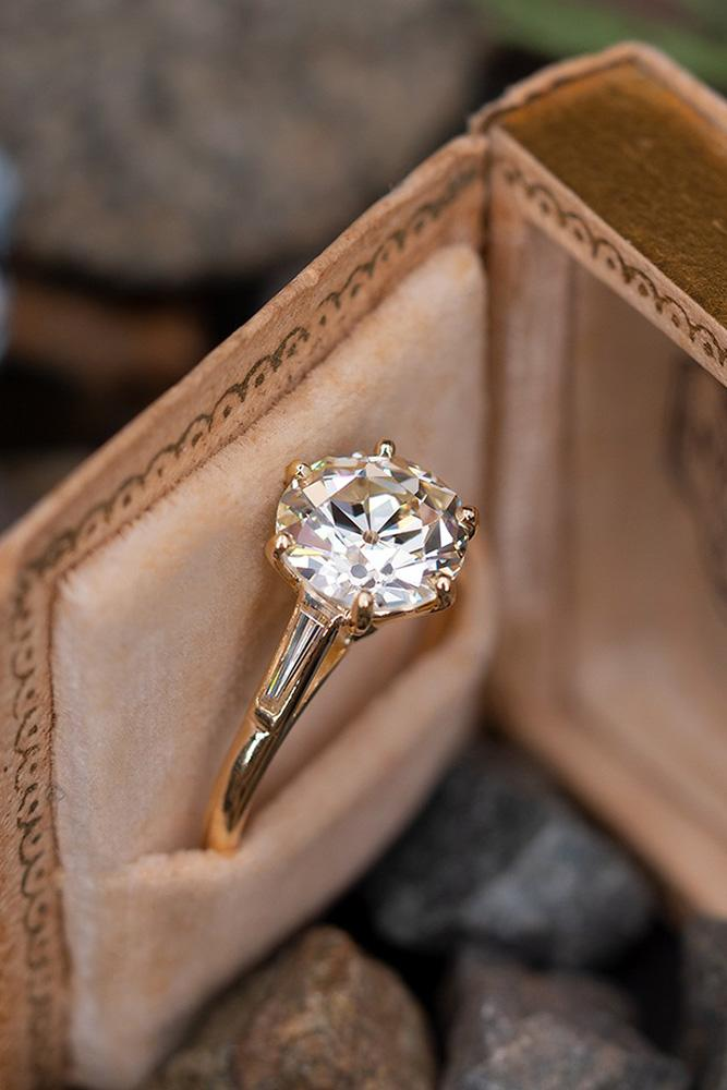 vintage engagement rings rose gold engagement rings solitaire engagement rings