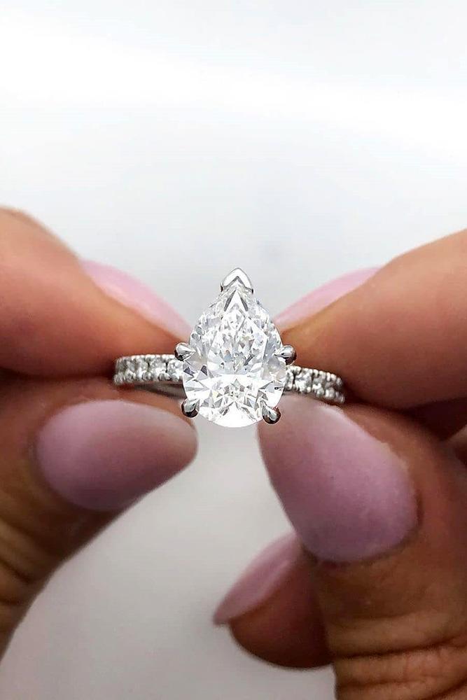 white gold engagement rings diamond engagement rings pear shaped engagement rings