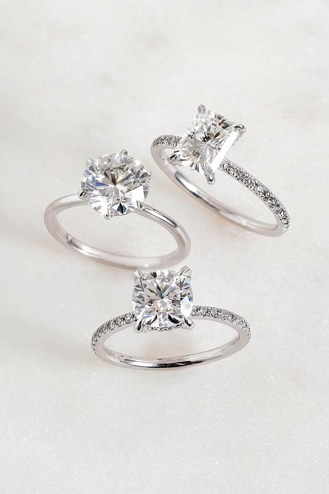 white gold engagement rings solitaire engagement rings diamond engagement rings