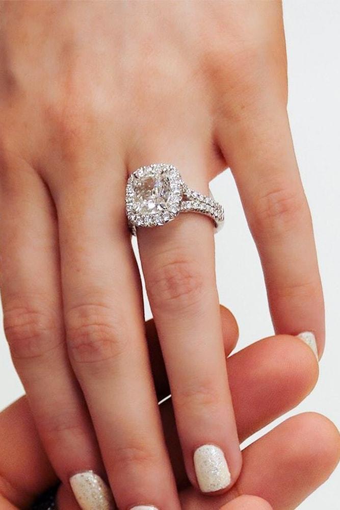 diamond engagement rings white gold engagement rings halo rings cushion cut engagement rings