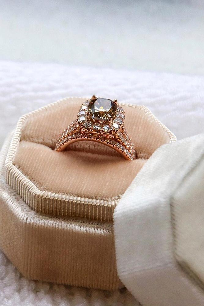 halo engagement rings rose gold engagement rings diamond rings