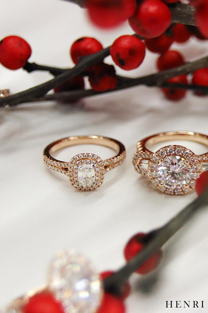 halo engagement rings rose gold engagement rings oval diamond rings