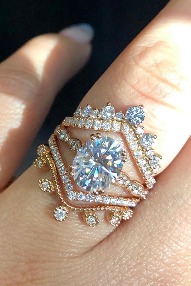 oval cut engagement rings rose gold engagement rings vintage rings moissanite rings
