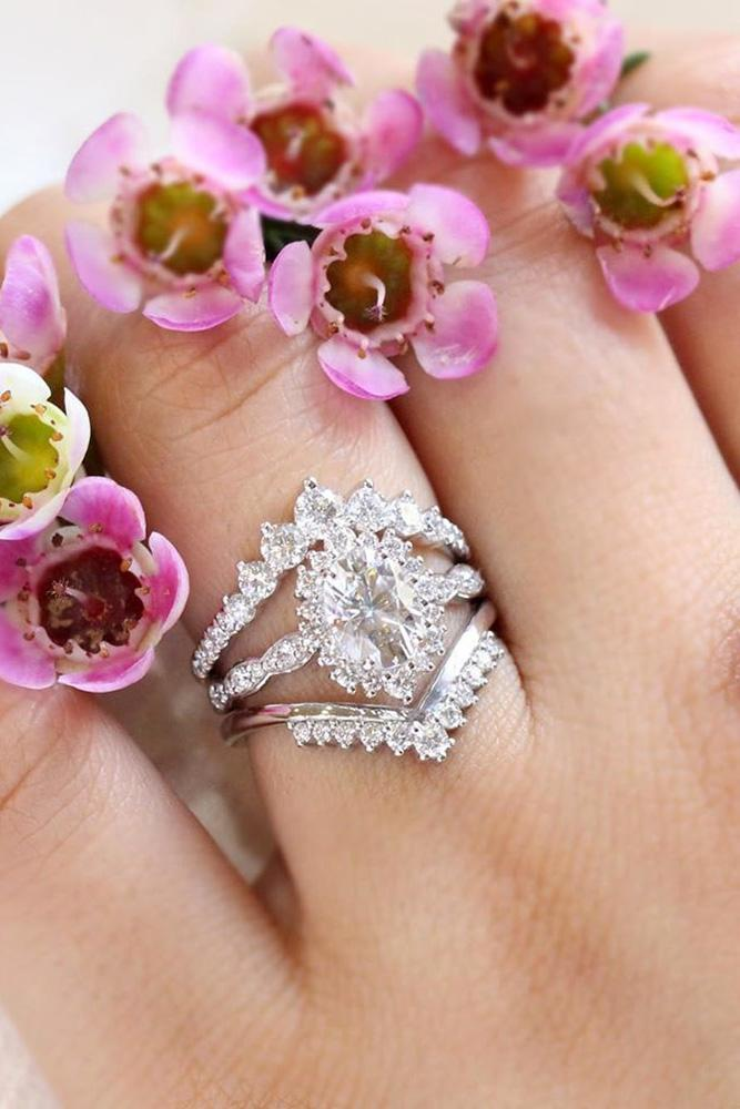 oval cut engagement rings white gold engagement rings vintage rings wedding ring sets