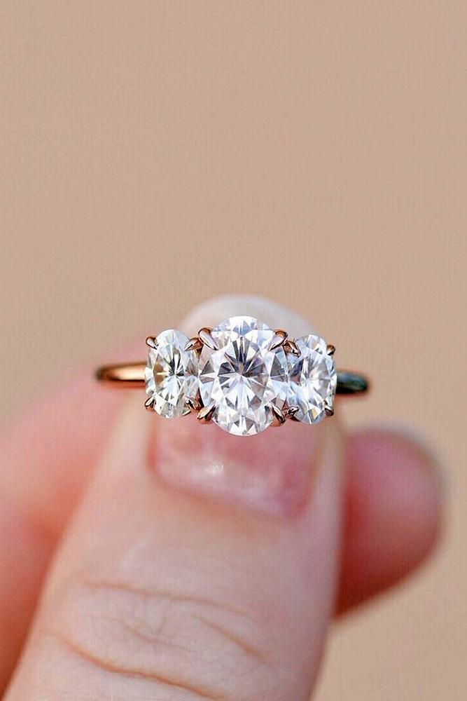 oval engagement rings three stone engagement rings diamond engagement rings rose gold engagement rings