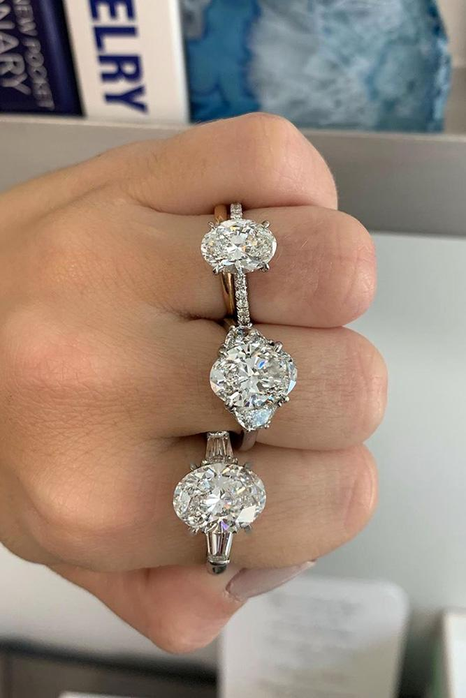 oval engagement rings three stone engagement rings diamond engagement rings white gold engagement rings